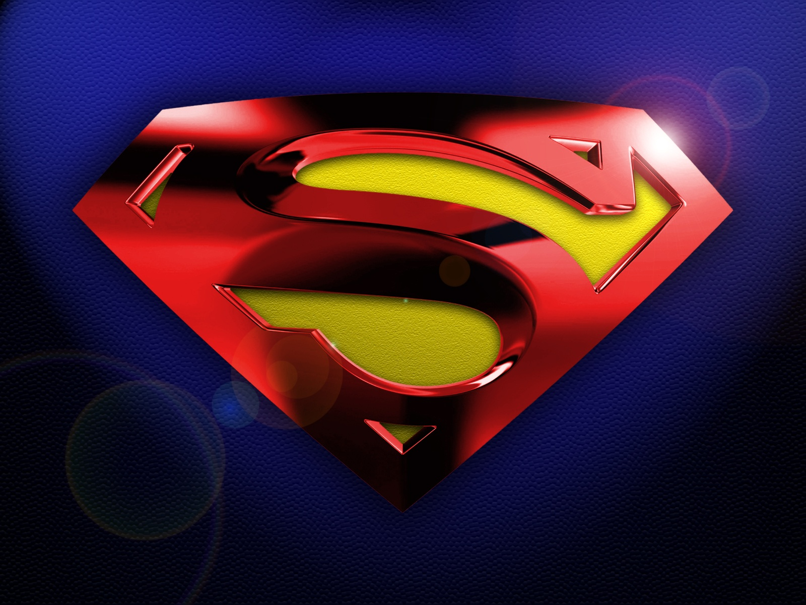 Awesome Superman Logo 3d Wallpaper