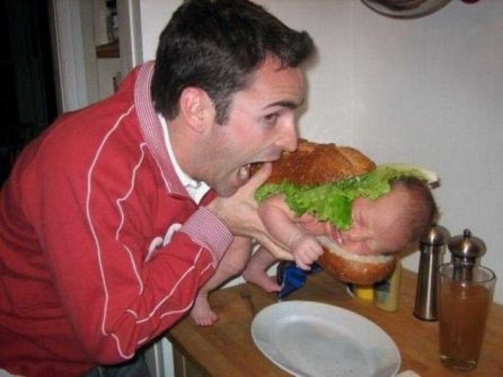 Burger baby funny picture wallpaper download cool hd wallpapers here voltagebd Image collections