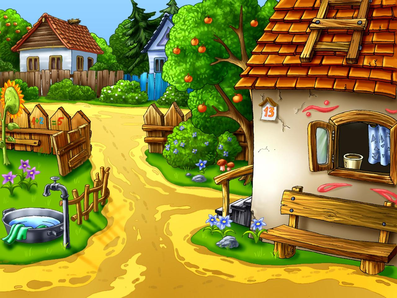 Cartoon house design hd wallpaper download cool hd for Wallpaper home cartoon