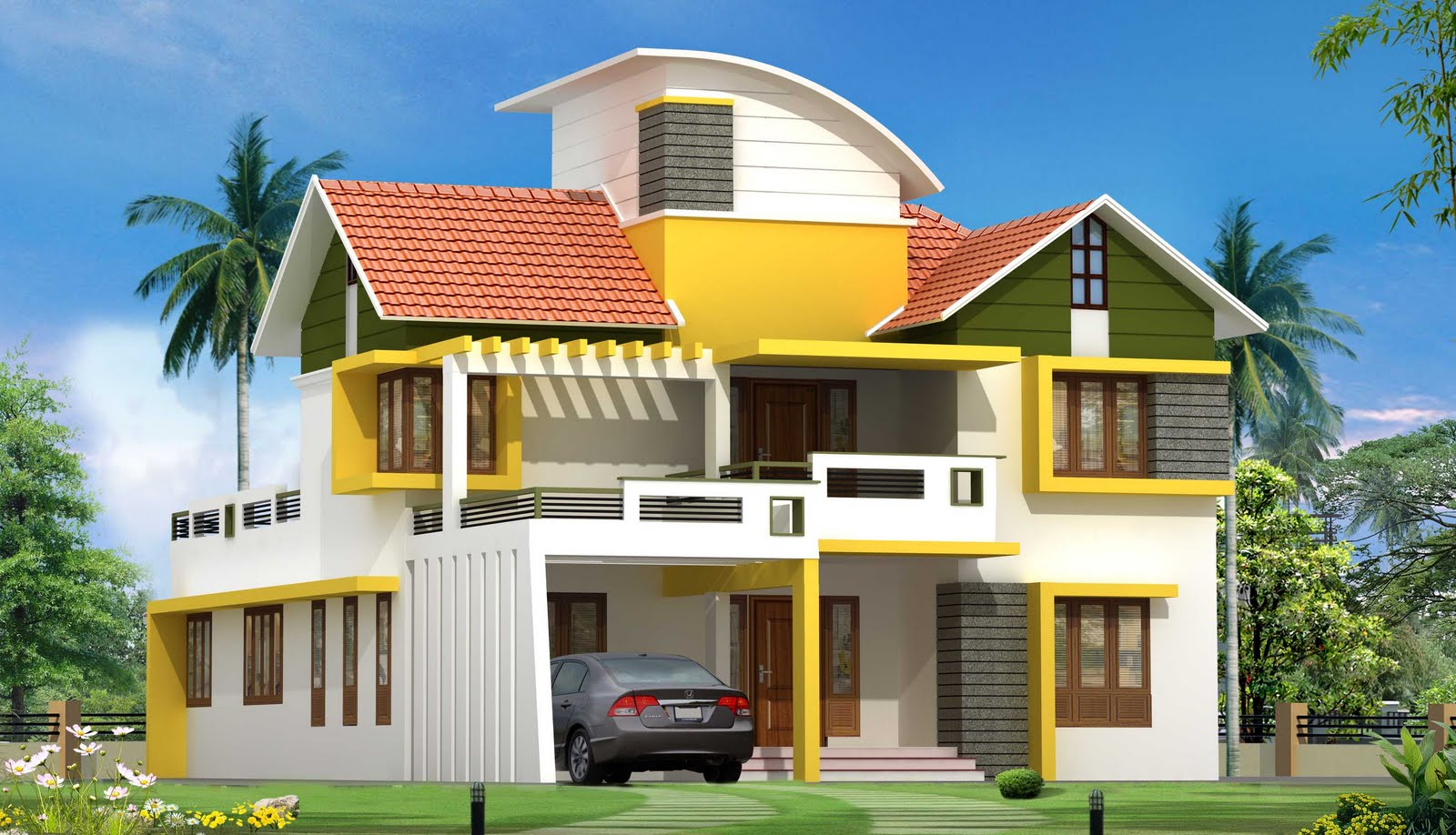 Colorful House colorful house design plan wallpaper | download cool hd wallpapers