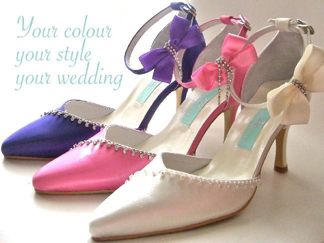 Colorful Women Wedding Shoes Wallpaper