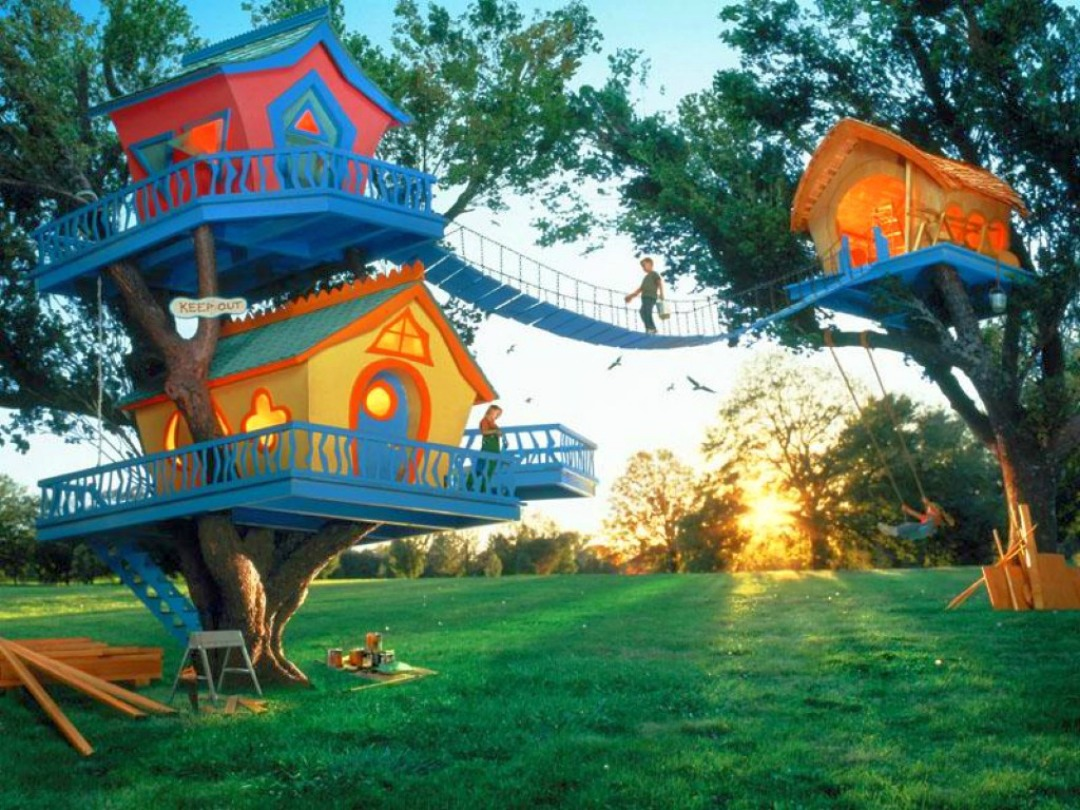 Cool Kids Tree House Design Wallpaper Download cool HD