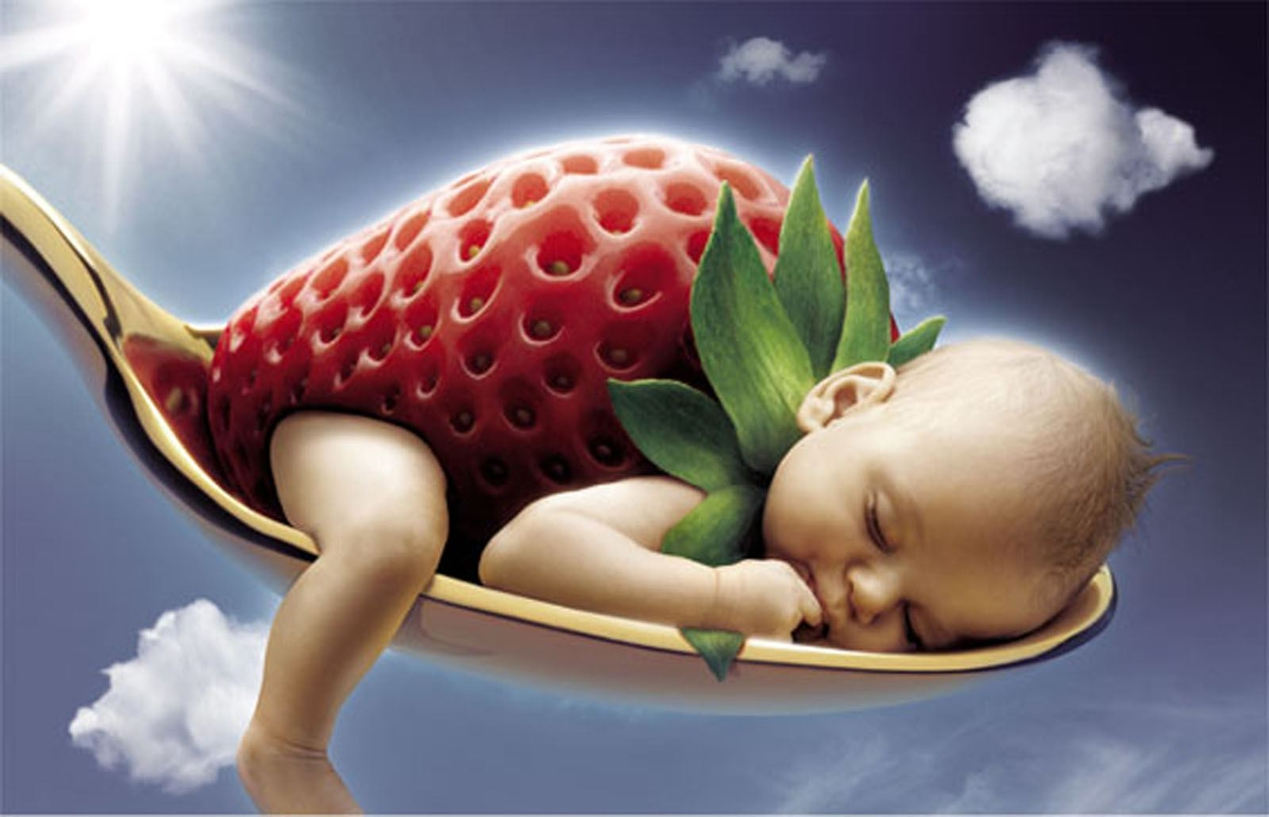 Cute Baby Sleeping Funny Image Wallpaper