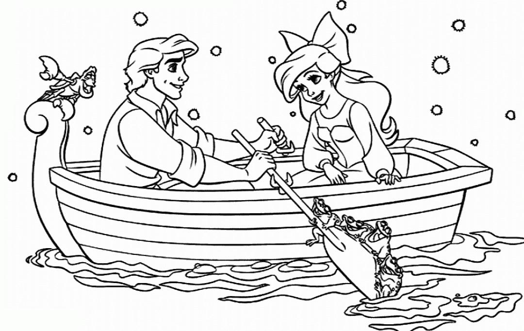 Disney Eric Princess Ariel Coloring Pages