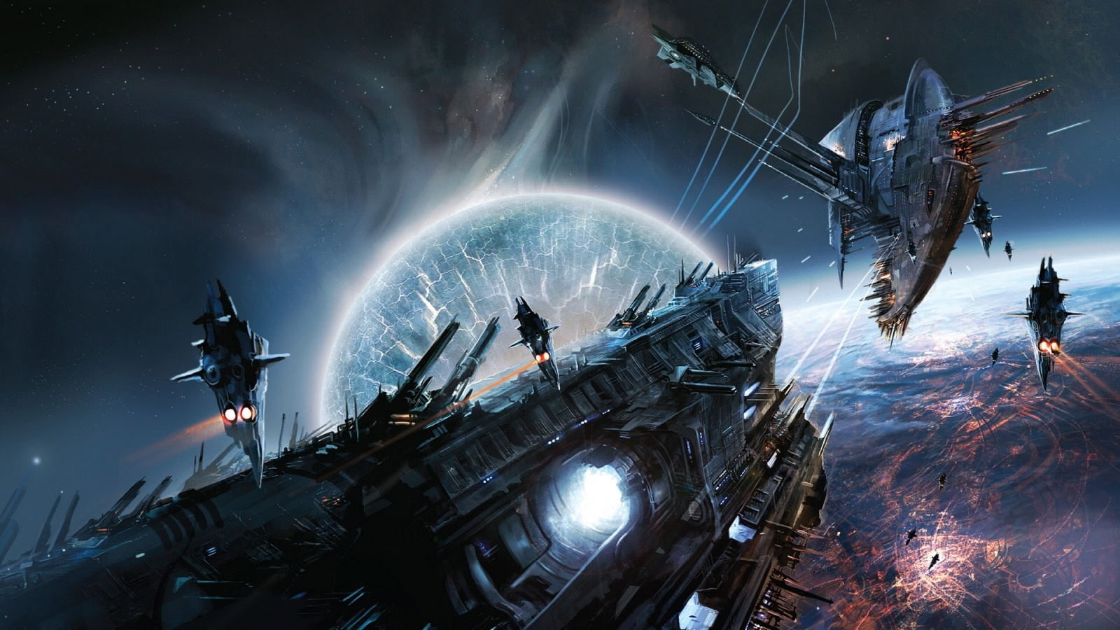 fantasy space spaceships hd wallpaper 1080p | download wallpapers page