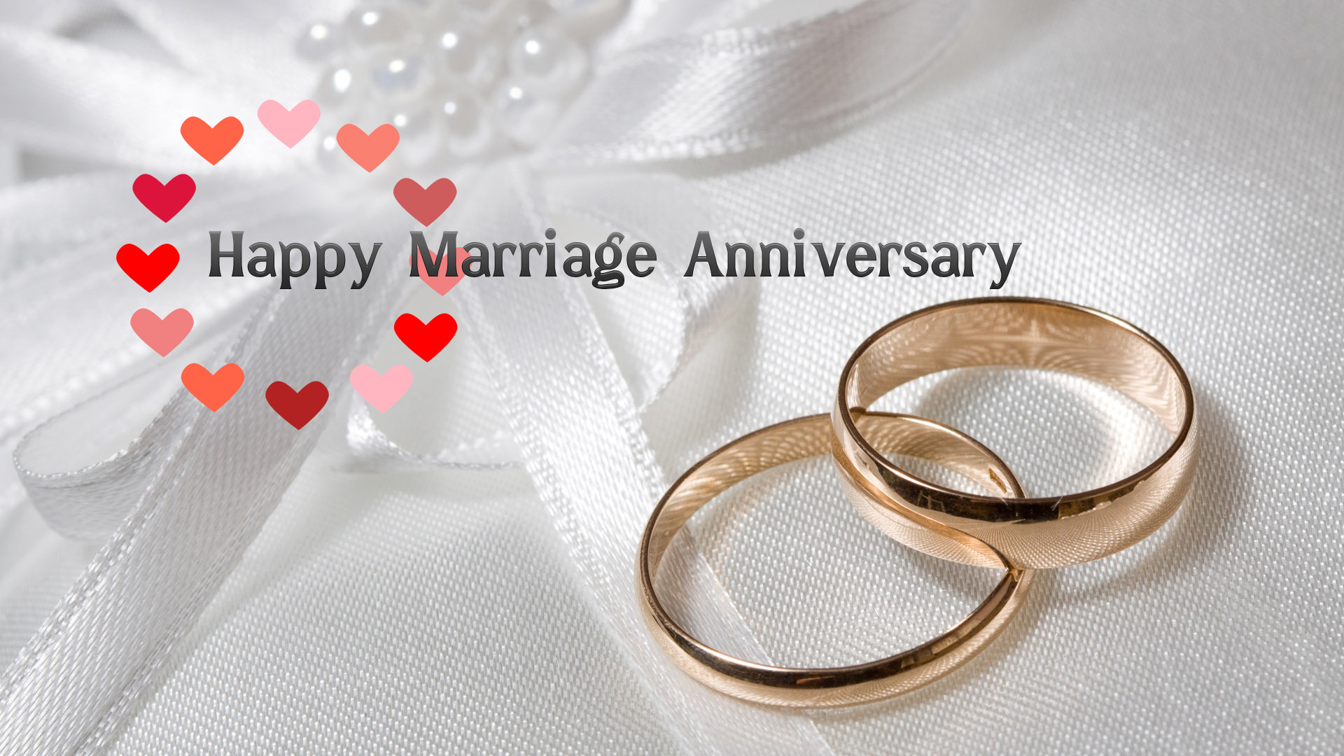 Happy marriage anniversary with ring wallpaper download