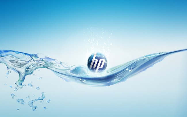 Hp Logo Water Wallpaper Desktop Background