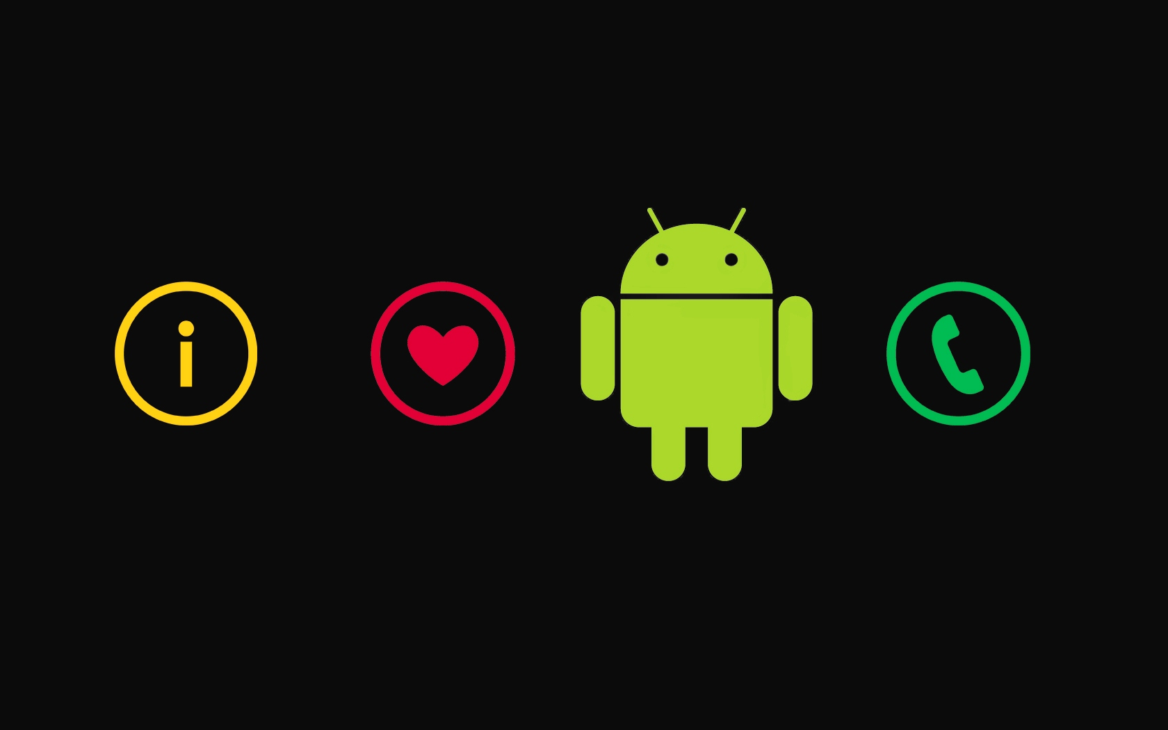 I Love Android Picture Wallpaper 1680x1050  Download