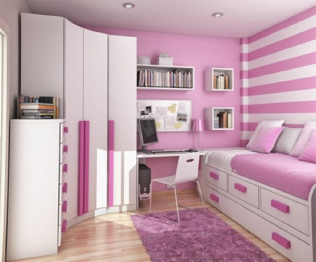 Pink Bedroom Interior Design Wallpaper | Download cool HD ...