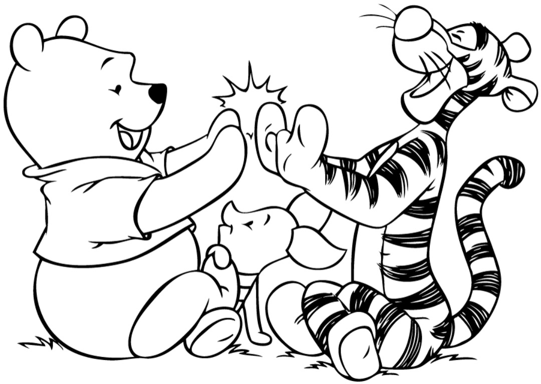 Pooh And Friends Coloring Pages Download wallpapers page