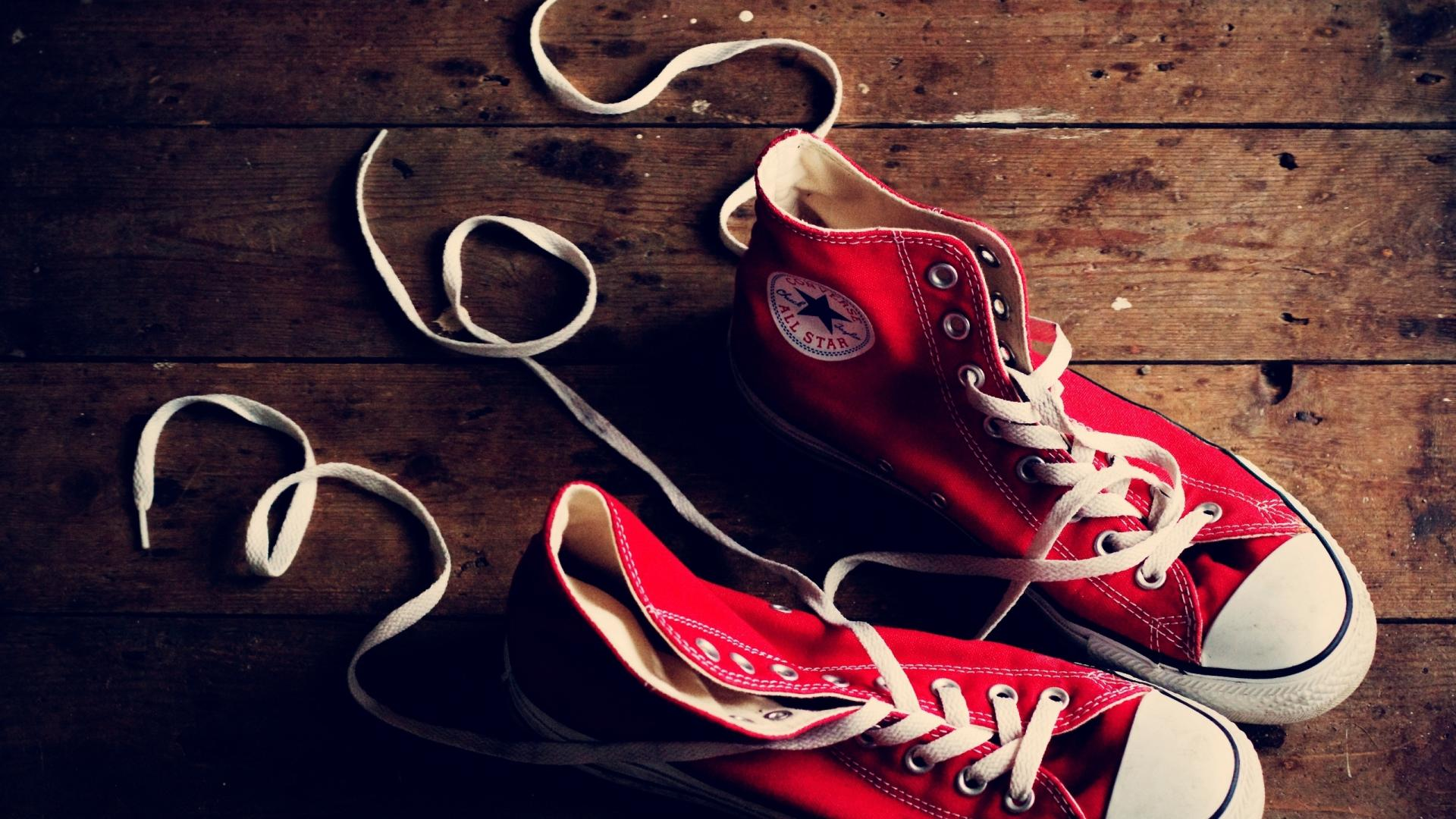 Sneakers Shoes Red Converse 1920x1080