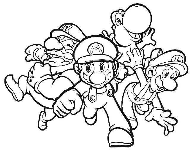 Super Mario Characters Coloring Pages | Download cool HD wallpapers ...