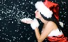 Christmas Santa Girl Hd Wallpaper wallpaper