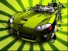 Green Car Cool Design wallpaper