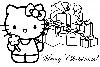 Hello Kitty Merry Christmas Coloring Pages wallpaper