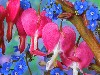 Magical Bleeding Heart Flowers Wallpaper wallpaper