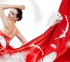 Red Wedding Dress Beautiful Fashion Girl Model Wallpaper wallpaper
