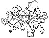 Super Mario Characters Coloring Pages wallpaper